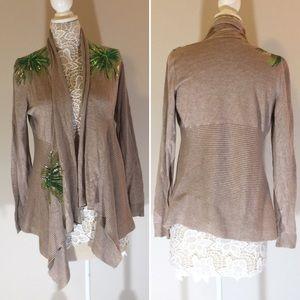 INC International Concepts Sequin Cardigan Large